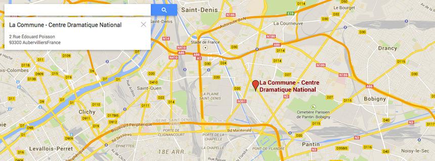 Venir repartir la commune aubervilliers centre - Porte d aubervilliers plan ...
